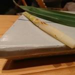 鮨 あずま - 筍…なんかね東北のハッチクの仲間らしい…香ばしくておいち♡