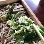 寒河江ダムドライブイン - 山菜の天ぷら