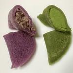 福呂屋 - 生きんつば5ケ入り¥800…紫芋と川越茶の断面