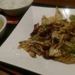 東和酒場 - 回鍋肉定食。豆鼓の美味しさ。