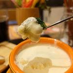 北海道チーズフォンデュファクトリー 炭リッチ - 新鮮産直野菜ミニバフェチーズフォンデュセット(花畑ラクレット) 300円