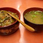 8741255 - ミニ中華丼とセットの味噌汁