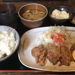 うまなり - 若鶏から揚げ定食¥790