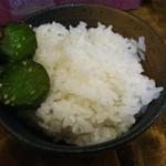 麺処謹ちゃん - ライス。¥プライスレス