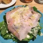 パッチョ オイスターバー - 前菜のローストポークサラダ