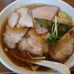 白河中華そば 孫市 - チャーシューワンタン麺!
