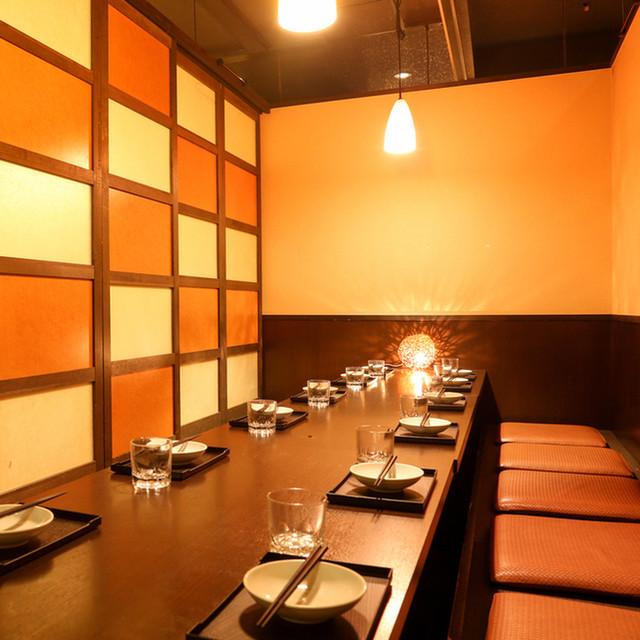 座席 : 地酒と北海道産直鮮魚×個室居酒屋 季の庭 新橋店 ...