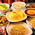 中国料理 シルクロード - 食べ飲み放題コースの大人気・かにフカヒレ入りあんかけチャーハンなど