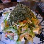 菜酒家FU-KU - 海ぶどうと島豆富のサラダ[750円]