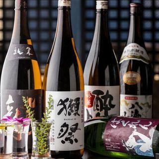 旨い肴には美味いお酒を♪こだわりの地酒、日本酒の数々