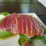 87422012 - 鮮魚(マグロ)のカルパッチョ
