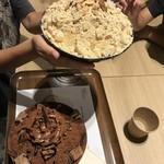 コリアンデザートカフェ ソルビン 仙台店 - きな粉餅ソルビンとチョコレートソルビン*