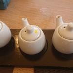 星期菜ヌードル&シノワ - お酢、醤油、ラー油