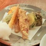 蕎麦 たじま - 野菜の天ぷら