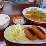 平和園 - 料理写真:コロッケセット ラーメンミニで850円(税込)