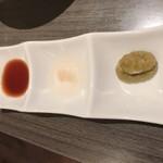 金の蔵 - 「餃子のタレ」「酢コショウ」「柚子こしょう」