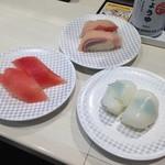 魚べい - マグロ、ハマチ、コウイカ