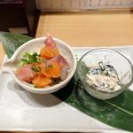 北海寿司 うに丸 - ちょい呑みセットのアテ