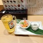北海寿司 うに丸 - ちょい呑みセット580円