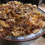 豊野丼 - ほたての切り落としかきあげ天丼玉子のせ 天丼アップ
