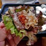 チヂミ - サムギョプサル(サンチュで包んで)