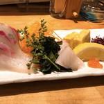 日本酒と肴 あらばしり - 縞鰺刺身