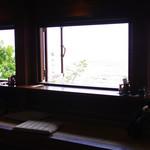 山の茶屋 楽水 - 店内からの眺望