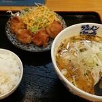 海鳴食堂 - ベジトンラーメン、定食 唐揚げ