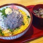寿司懐石 かご家 - 生しらす丼(つみれ汁付)