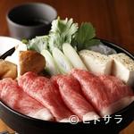 Beef&bar真吾 - 割り下にくぐらせるだけで、極上の味わいが完成『名物牛鍋(すき焼き)』