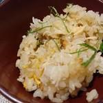 宮膳いしい - 蟹と雲丹の土鍋ご飯