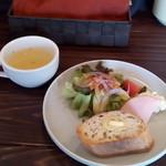ティノ - スープ、サラダ&パン