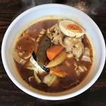 スープカリー専門店 元祖 札幌ドミニカ - 赤スープ豚しゃぶ、辛さ5番です。