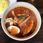 スープカリー専門店 元祖 札幌ドミニカ - 黄色スープチキン辛さ10番です。