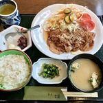 茶房 古蓮 - 生姜焼き膳 1150円