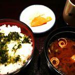 87466869 - ご飯とお味噌汁とお漬物
