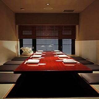 会食・合コンなど使い勝手の良い完全個室が3部屋!