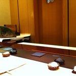 すし乾山 - 奥の個室(カウンター風)