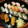 牧和すし - 料理写真:大とろ、えんがわ、サーモン、はまち、こはだ、あじ、いわし、いくら、うに