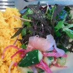 オーガニックカフェギャラリー地球 - 有機野菜サラダ