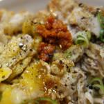 稲田屋 SUN - 炒めた極薄の豚バラ肉と長ネギを特製ダレで味付けしたものの丼です。