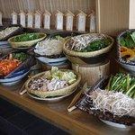 銀座ライオン しゃぶ一文字 - 充実の野菜達