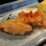 大国鮨 - 料理写真:上にぎり、金目鯛&赤貝