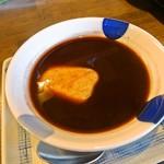 菜果茶酒 むすび - ランチのデザート一例です。この日はお汁粉でした。