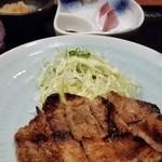 つくよみ - 豚の味噌焼き定食。(定番)