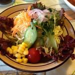 チキン亭 - 野菜サラダ ¥300