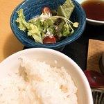 尾道和食レストラン ゆう家 - サラダとご飯