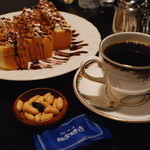 明楽時運 吉備 - 料理写真:コーヒーとトースト