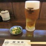 87503009 - 生ビール・お通し