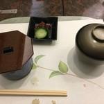 日本料理 ぎん - 香の物が浅漬けでサッパリと